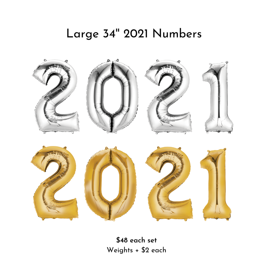 2021 Large Numbers w/Helium | Graduation 2021