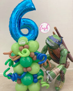 MEGA Ninja Turtle Balloon Bouquet (Leonardo)