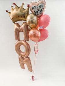 Queen MOM Helium Bouquet 👑 | Mother's Day Balloons 💕