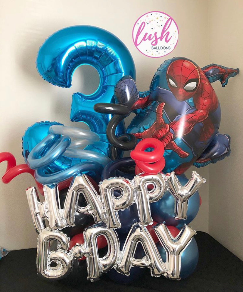 Spiderman Balloon Bouquet 🕷