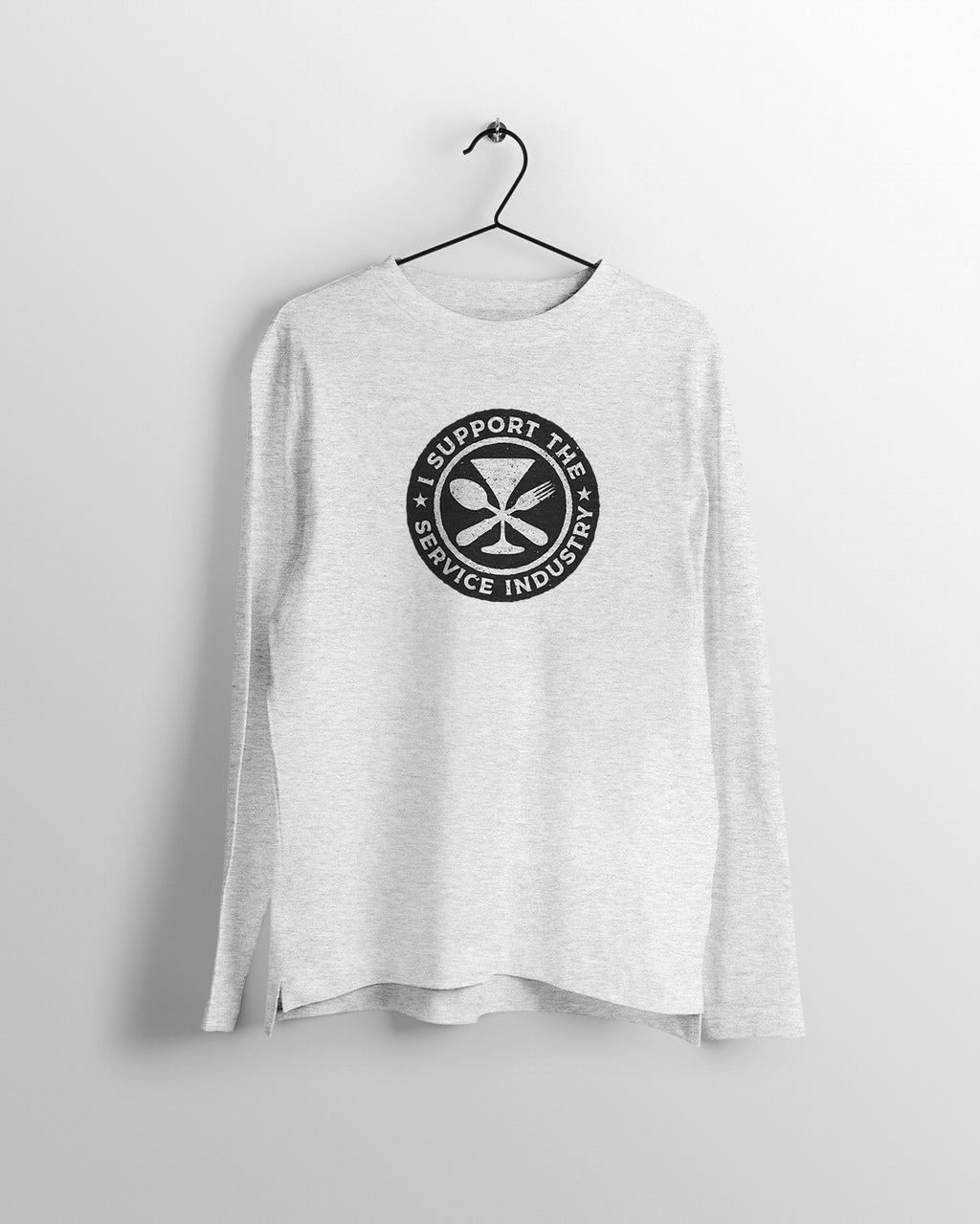 At Your Service Circle Logo Long Sleeve Tee