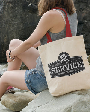 At Your Service Canvas Tote Bag