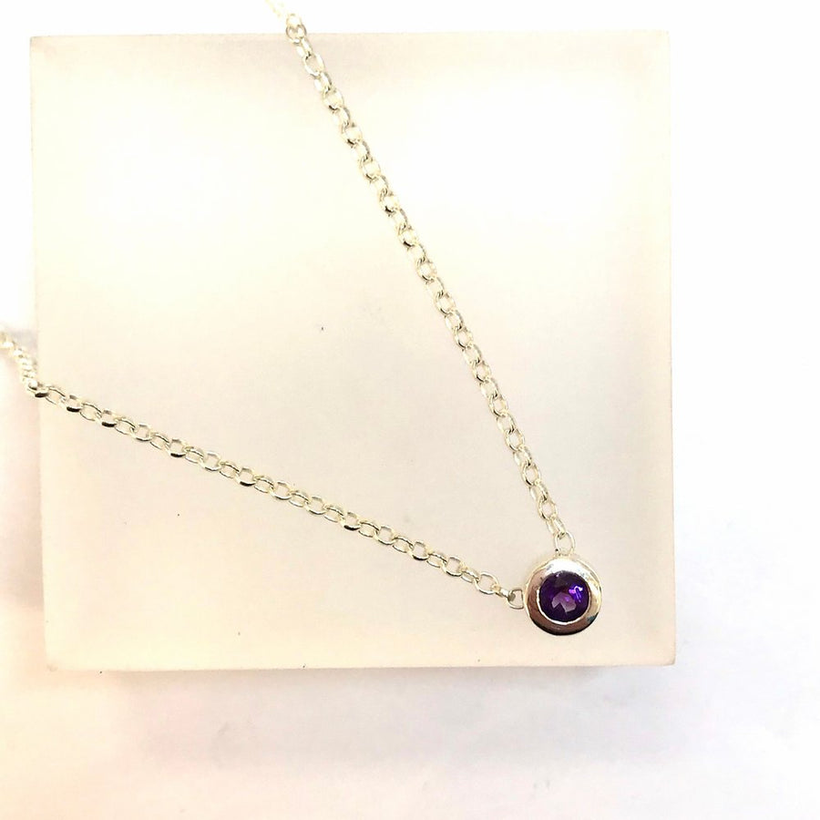 Vu Jewellery - Floating Amethyst Necklace