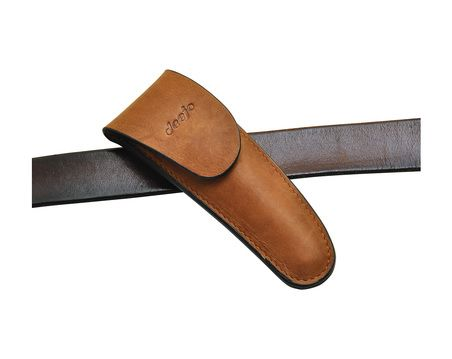 Deejo Knives 37G Belt Leather Sheath, Mocca