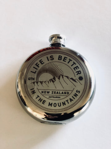 Hit flask - Life Is Better In The Mountains 5oz