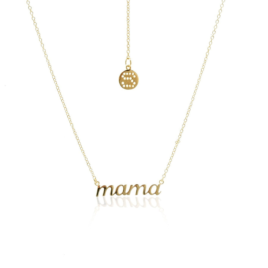 Silk & Steel Superfine Necklace - Mama Gold