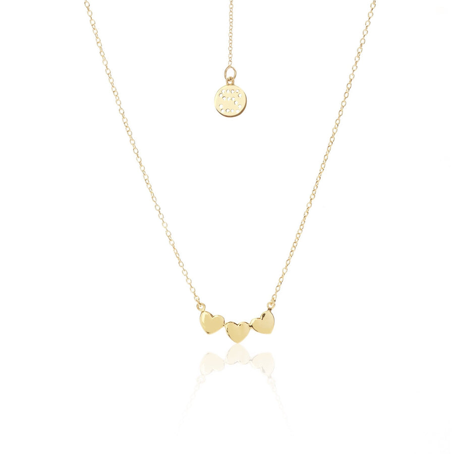 Silk & Steel Superfine Necklace - Sweetheart Gold