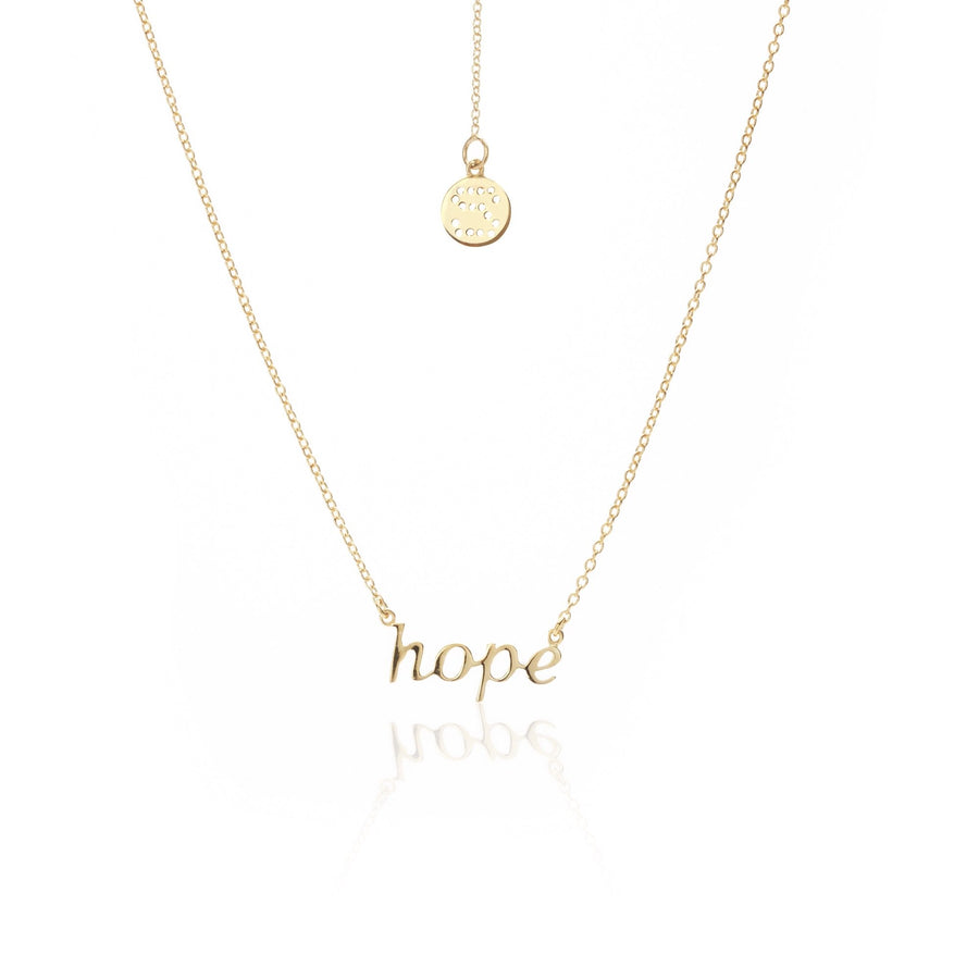Silk & Steel Superfine Necklace - Hope Gold