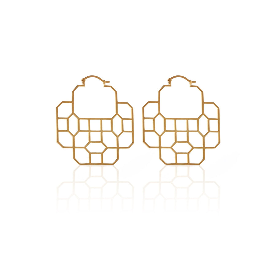 Silk & Steel Regal Earrings - Gold