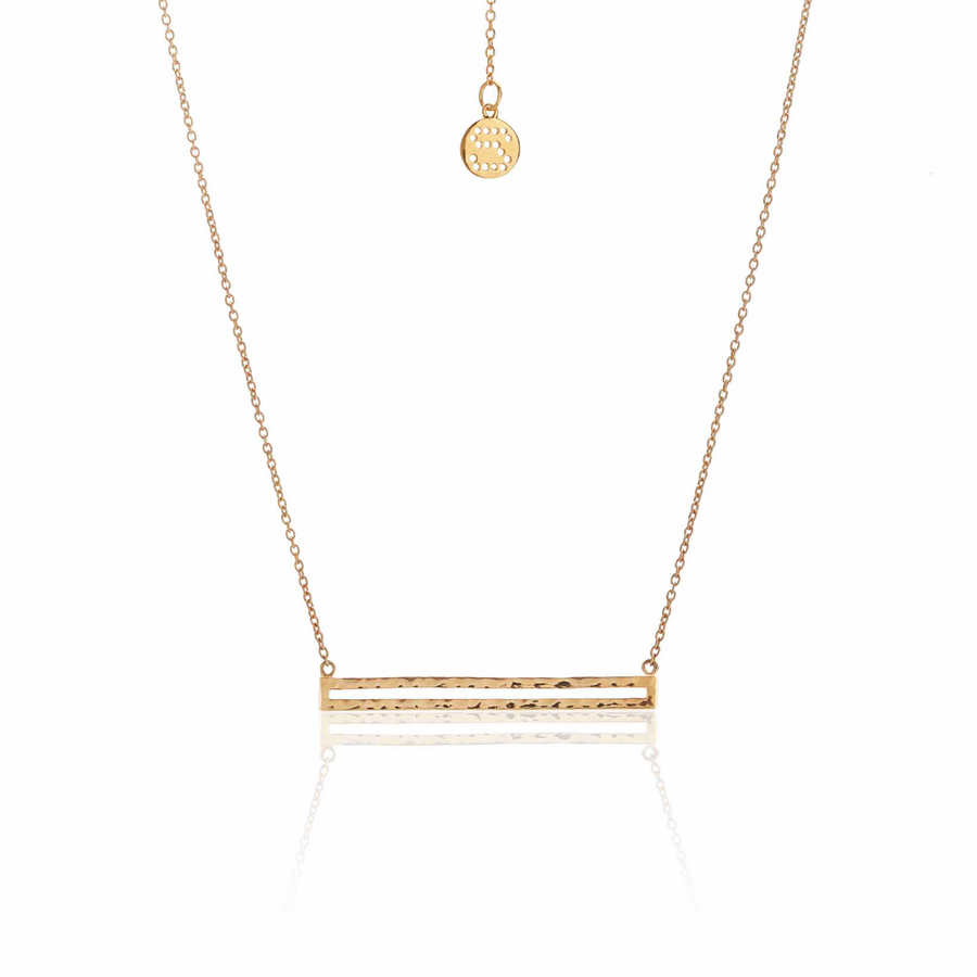Silk & Steel Long Way Necklace - Gold