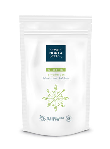 True North Teas Organic Lemongrass 20 Pyramid bags
