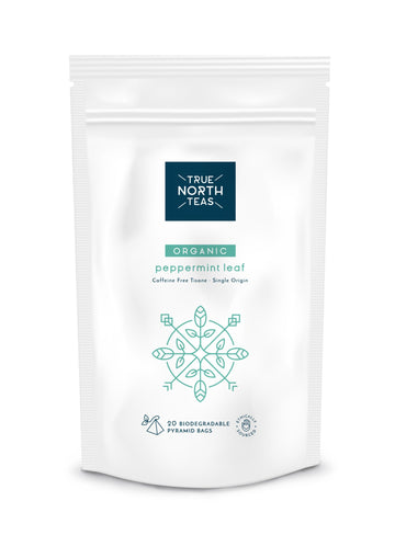 True North Teas Organic Peppermint Leaf 20 Bio Pyramid bags