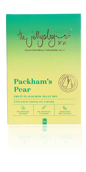 The Jellyologist - Packham's Pear with white chocolate