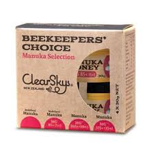 ClearSky Beekeepers choice Manuka Selection 4 X 30g