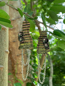 Laurel Chain Earrings