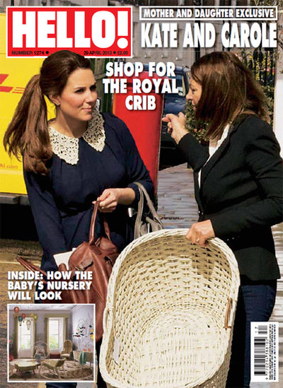 Hello Magazine: Duchess Catherine shops for baby at Blue Almonds