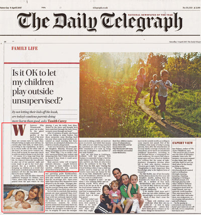 Iza discusses a modern parenting dilemma in The Daily Telegraph