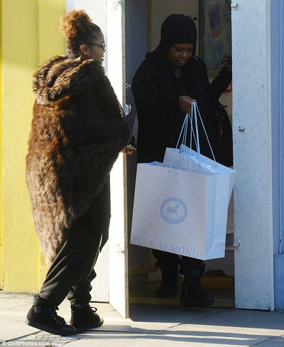 Janet Jackson shops for baby Eissa at Blue Almonds