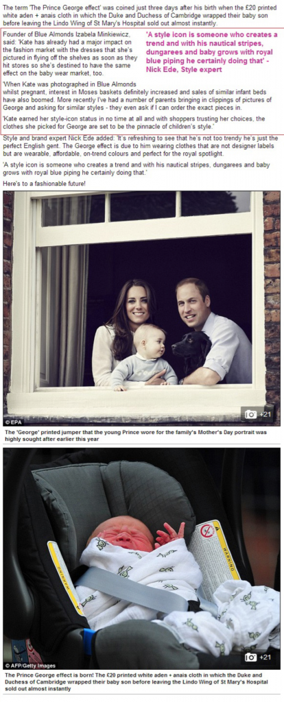 Prince George effect