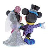 Disney by Britto - Mickey und Minnie Mouse Das Brautpaar