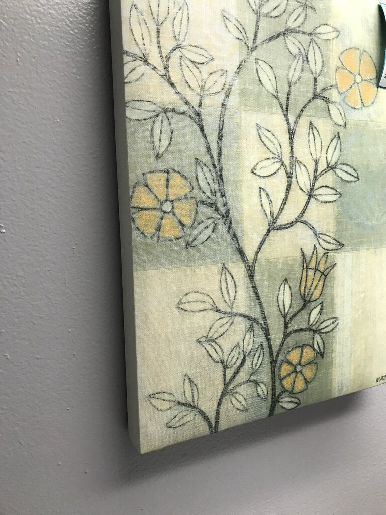 Canvas Wyatt Green yellow Art - Redecorate Consignment