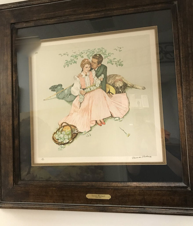 Norman Rockwell Lithograph SIGNED (Receipt originally $2662.00) - Redecorate Consignment