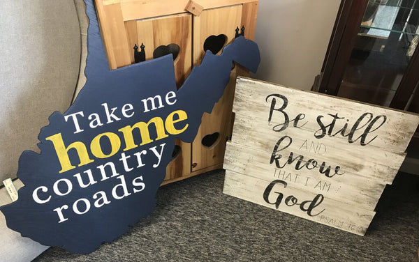 """Be Still"" Sign - QUOTE Solid Wood"