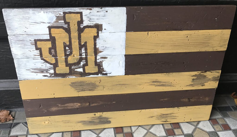 JM Flag Heavy Wood - Redecorate Consignment