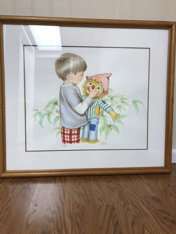 Boy with Clown Picture - Redecorate Consignment