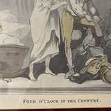 Four 0'Clock Country Picture by Thomas Rowlandson - Redecorate Consignment
