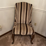 Side Chair Striped Brown