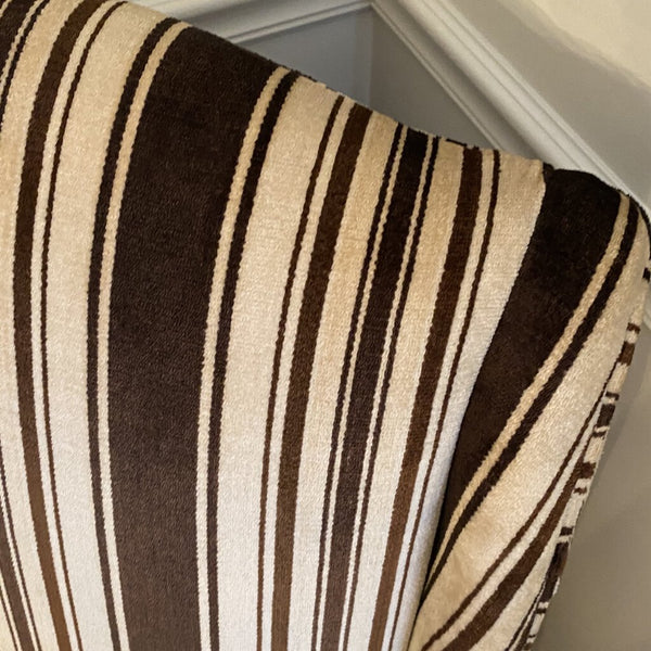 Side Chair Striped Brown - Redecorate Consignment