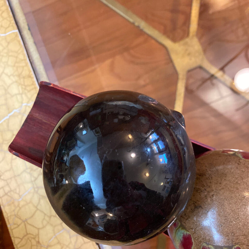 Black Orb Ball decor - Redecorate Consignment