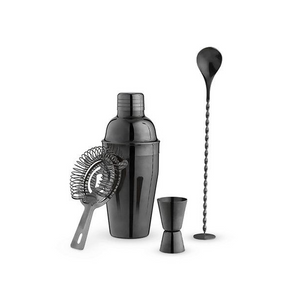 Charcoal Gray Cocktail Set