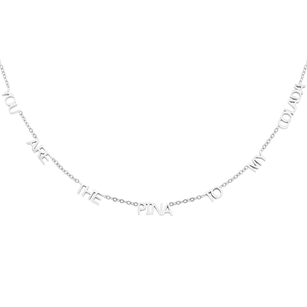 You Are The Pina To My Colada Necklace Silver And Gold - necklace gold, necklace silver, necklaces, Sale - You Are The Pina To My Colada Necklace Silver And Gold - ANNABO Online Store