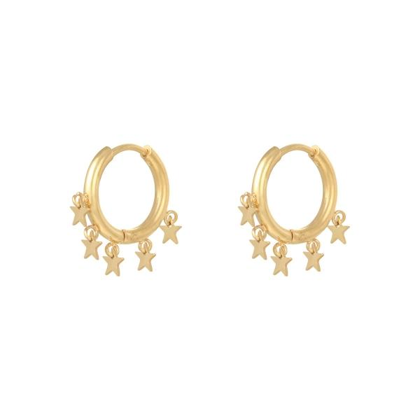 A Lot Of Stars Earrings Gold and Silver - Earrings, Earrings Gold, Earrings Silver, Ruby Collection SS '20 - A Lot Of Stars Earrings Gold and Silver - ANNABO Online Store