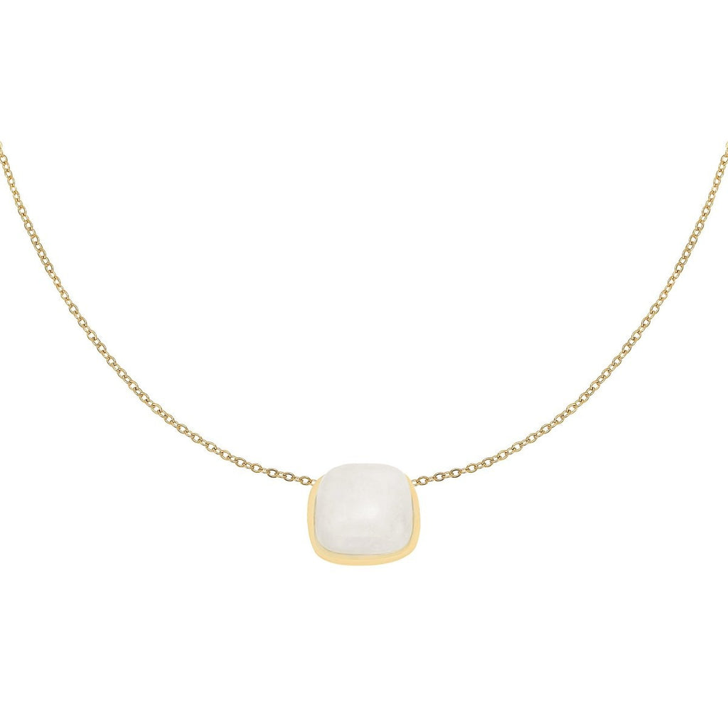 Mathilde Stone Necklace Gold - Necklaces, Necklaces Colored, Necklaces Gold, new arrivals - Mathilde Stone Necklace Gold - ANNABO Online Store