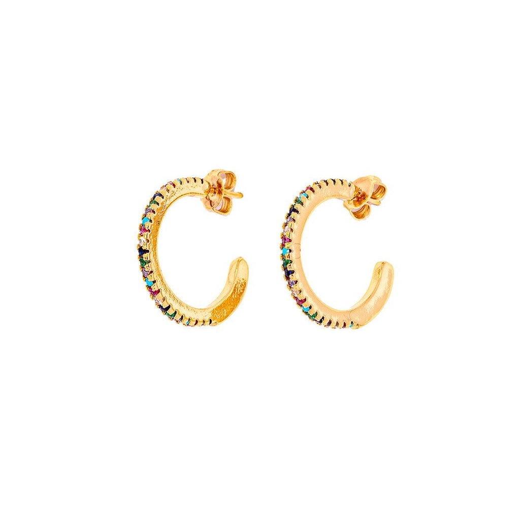 Joy Colorfull Golden Earrings - Earrings, Earrings Colored, Earrings Gold, Sale - Joy Colorfull Golden Earrings - ANNABO Online Store
