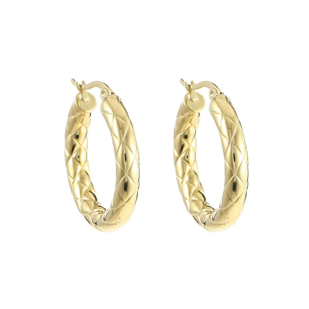 Zola Hoop Earrings Gold - Earrings, Earrings Gold, new arrivals - Zola Hoop Earrings Gold - ANNABO Online Store