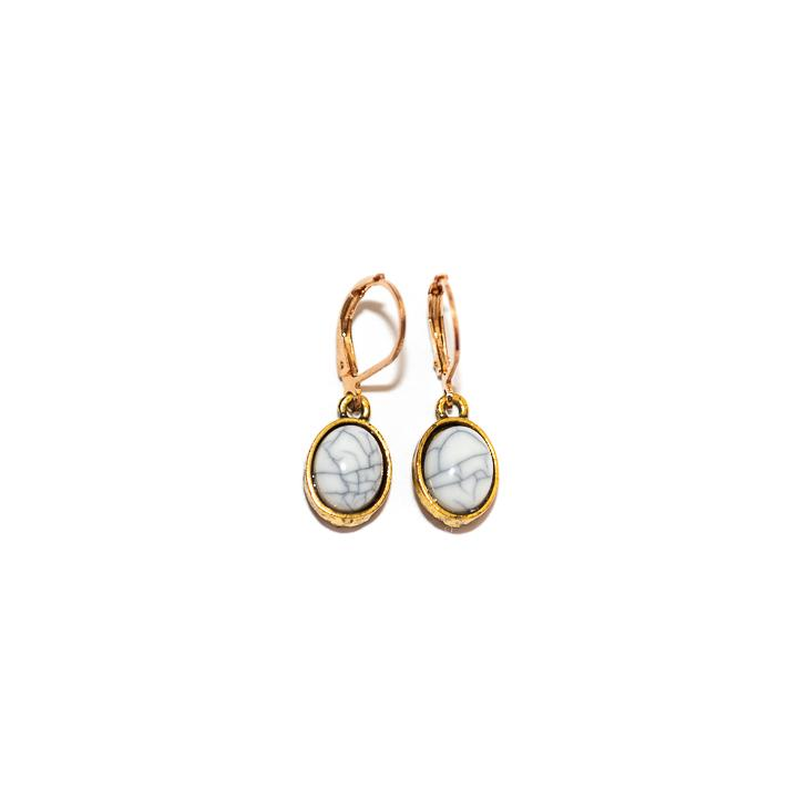 Marbelous Earrings Gold and Silver - Earrings, Earrings Colored, Earrings Gold, Sale - Marbelous Earrings Gold and Silver - ANNABO Online Store