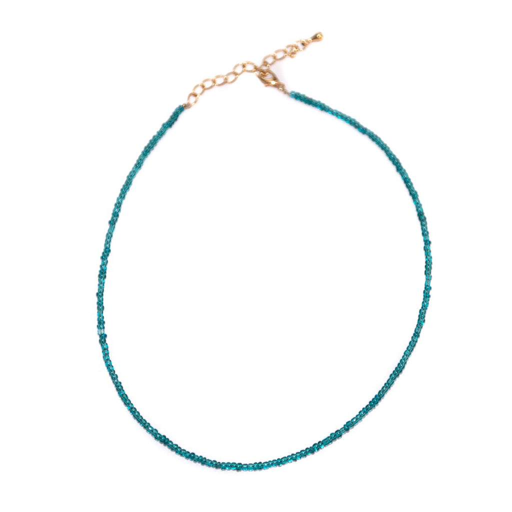 Blue Lagoon Choker Necklace - Limited Editions, Necklaces, Necklaces Colored, Necklaces Gold, Sale - Blue Lagoon Choker Necklace - ANNABO Online Store