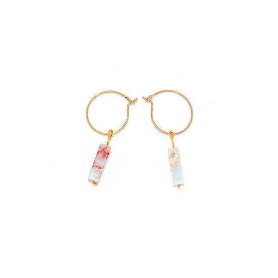 Tilly Marble Earrings Gold and Silver