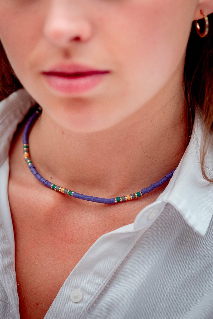 Classy Sassy Colourful Choker Necklace - necklaces, Necklaces Colored, Sale - Classy Sassy Colourful Choker Necklace - ANNABO Online Store