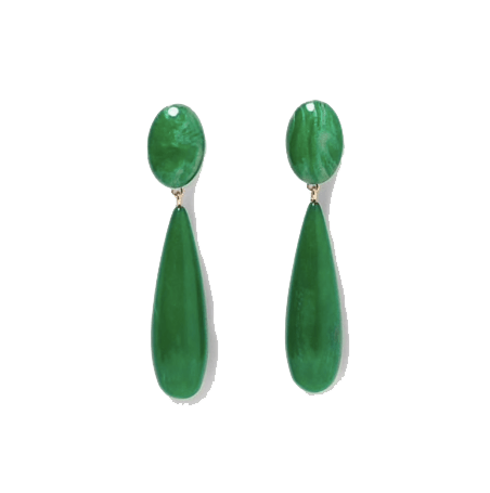 Lilo Green Stone Luxury Earrings - Earrings, Earrings Colored, Earrings Gold, GiGi Fall/Winter '19 - Lilo Green Stone Luxury Earrings - ANNABO Online Store