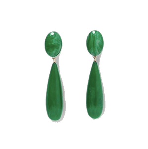 Lilo Green Stone Luxury Earrings