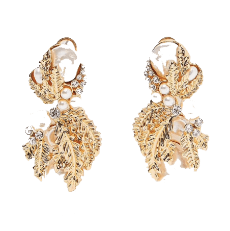 Louis Luxury Party Earrings Gold - Earrings, Earrings Gold, GiGi Fall/Winter '19 - Louis Luxury Party Earrings Gold - ANNABO Online Store