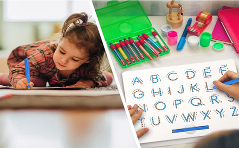 magnetic alphabet board magnet board with pen, for kids baby toddler drawing writing doodle educational toys
