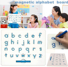 Load image into Gallery viewer, Magnetic Alphabet Letter Tracing Board - STEM Educational Learning ABC Letters Kids Drawing Board with Stylus Pens- Best Gift for Boys and Girls