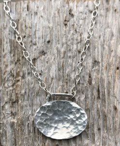 Silver pendant and chain made from heritage spoon