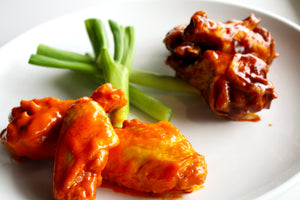 Chicken Wings with Ranch Dressing - 40 Wings - Buffalo or Barbeque